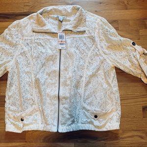 NWT SZ 2X Lace waist jacket American rag
